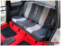 The rear seats - fitted back in place looking like they've never been sat on.