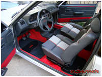 """All done! I'm now in love with the interior :-). Ironically, new floor mats I've had on my disposal have """"Tuning"""" written on them, haha."""