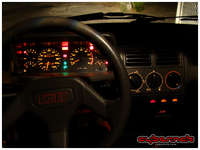 205 GTI dash layout and illumination - a fascination from my childhood days.