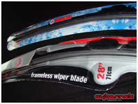 """My front wiper blades disintegrated, so I decided to replace them with fashionable frameless """"aero"""" blades. 71cm and 66cm blades required for 307."""