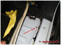 A hole for routing the sensor cables inside the boot - I'll put the module in the side pocket or behind the side panel.