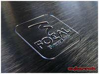 Focal FP 1.800 cover detail. Specs: 1 x 400W @ 4 ohms, 1 x 600W @ 2 ohms, 1 x 800W @ 1 ohm.
