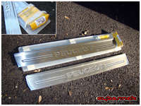 And finally, some genuine 307 stainless steel front sill plates, part number 9623.76, also an eBay special.