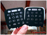 """I even had to go the lengths of cutting out and swapping the center """"display"""" part, so the warning lights would remain correct."""