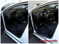 """And finally - a """"before and after"""" shot, to sum it all up. The new details really smarten up the interior and the steering wheel is much nicer to use. As far as interior mods are concerned, that's it for now, but I've definitely got another thing or two planned ;-)."""