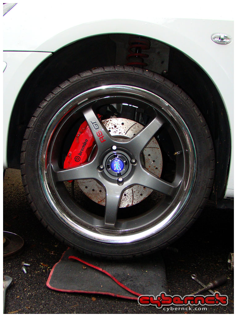 """Of course, my RS GT 7.5x18"""" ET15 wheels could easily house even bigger brakes with no bother."""