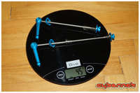 And finally, to maximize the weight saving - a set of KCNC quick-release skewers, weighing only 45 g for the pair.
