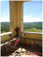 In the background - the only really flat stretch of road in Istria!