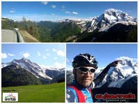 Sella di Rioda climb starts easily but ramps to over 9% average going into Sauris di Sotto (1205 m), sticks to a moderate 6% average to Sauris di Sopra (1394 m) and that's where the road gets closed again - no traffic with occasional road works.