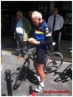 Joop Zoetemelk (Winner of Tour de France, World champion and Olympic gold medalist) - also riding Look 675 demo bike.