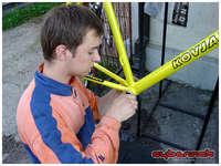My trusty personal bike mechanic in action.