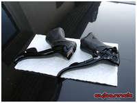 Shimano 105 Black STI gear/brake levers.