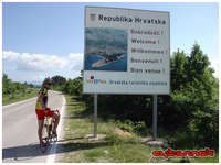 196th kilometer - Croatian border crossing - I can now smell the Sea.