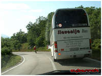 !@#$!$ bus tyre exploded in front of me, giving me a right buzz and showering me with dirt and debris!