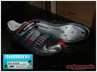 Shimano SH-R099 road shoes with three straps and (silver) carbon sole - new shoes after 10 long years!