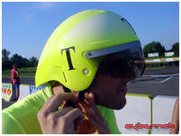 Aero helmet I got from the UK a couple of weeks before the race...