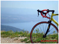 On the way back down. In the background - City of Rijeka.