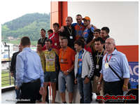 On the top of the podium :-).