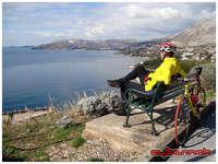Enjoying the view near Dubrovnik, Croatia.