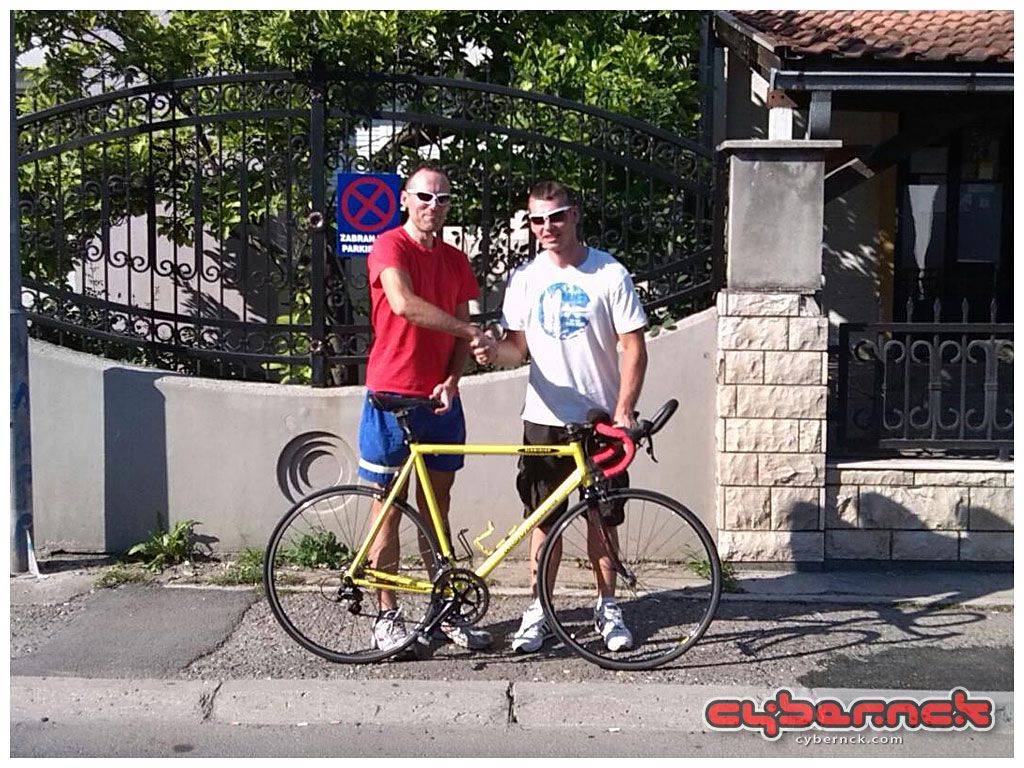 17th June of 2013 - the very last update - Kovjanic meets its (or should I say - his) new owner. A club mate Robert is going to enjoy it and cherish it from now on. Photo taken at the same spot where the bike had originally been built and photographed, 7 years ago.  So, there you go - 11 years since the project had started, I can say that it was an amazing and emotional journey but it was time to move on to another project :-).  THE END