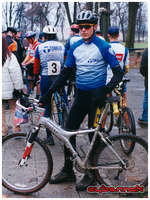 A photo taken after a 1999 Cyclocross National Championship race - I scored a silver medal in Juniors category.