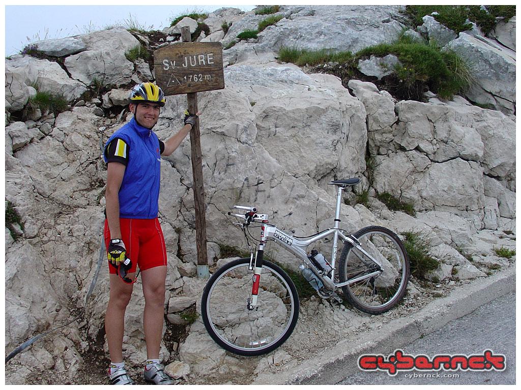 At the summit of Mt. Biokovo - a 30 km hillclimb from Makarska (CRO) at sea-level to 1762 m of alt.