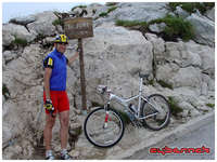 At the summit of Mt. Biokovo - a 30 km hillclimb from Makarska (CRO) at sea-level to 1762 m of alt.