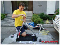 My trusty bike builder in action ;-).