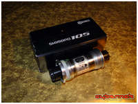 Shimano 105 5500 bottom bracket - can easily be swapped for Hollowtech II later on.