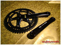 Shimano 105 5502 Black 172.5/53/42 crankset - I wanted carbon crankset but funds didn't allow it, so I got this black one.