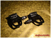 Shimano 105 R540 Black pedals - the same pedals as on my road bike, therefore useful as a spare set too.