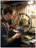 Day 2 of the build - Started by preparing the Spinergy wheelset. Bearings were perfect, but we fitted better freewheel on the rear wheel.