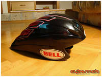 Another thing I got (and I've had to get it because of the UCI rules) is a Bell Meteor II aero/TT helmet.