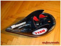 It's a proper crash helmet, unlike my aero fairing that I used until now.