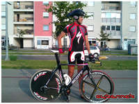 And here's the revised TT setup (without the skinsuit, obviously).