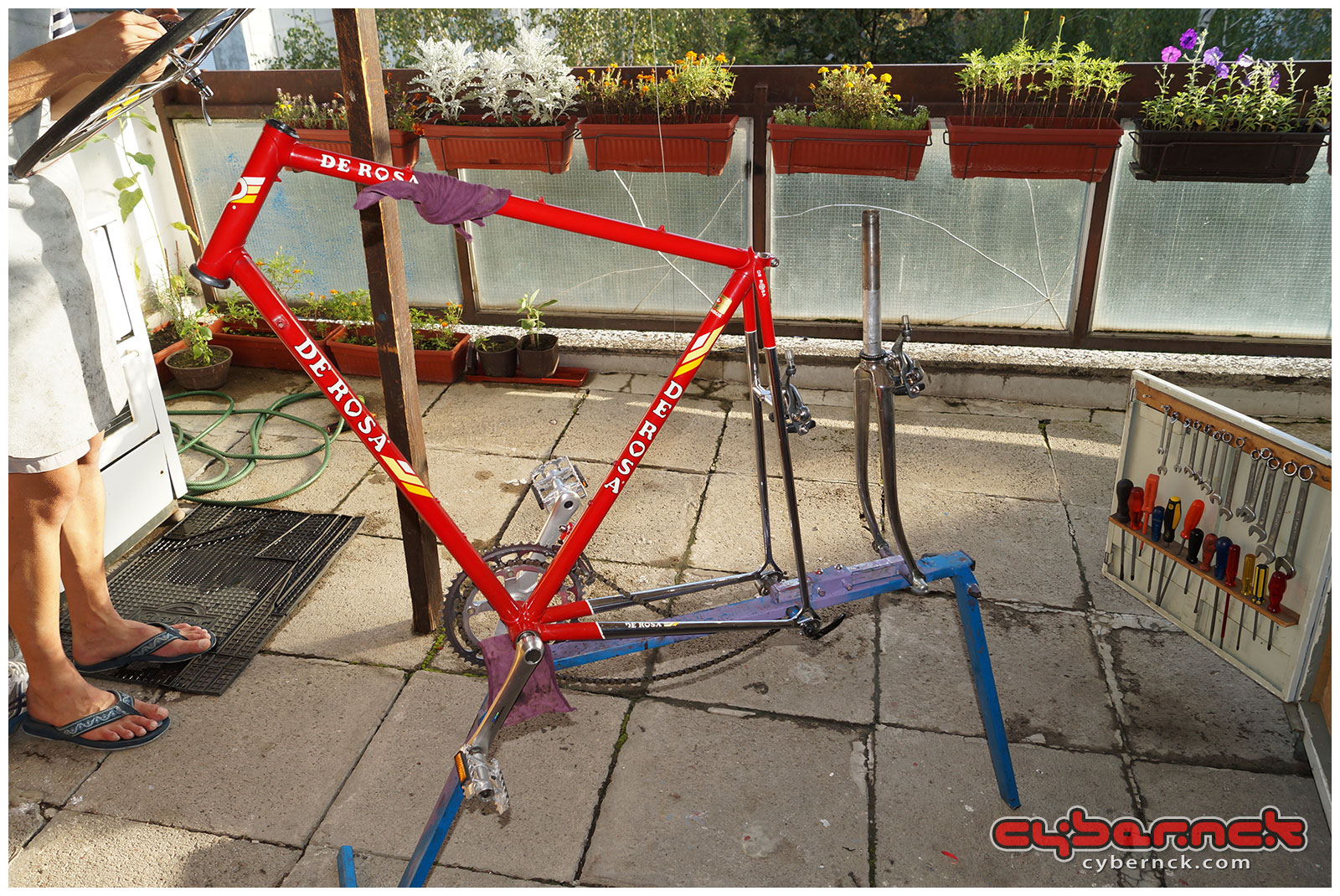 The next bike that had come along was to become the crown jewel of my collection - 1985-ish De Rosa Professional SLX unfinished project. I instantly fell in love with it!